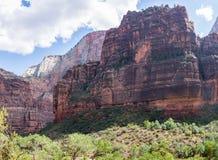 Roca de Zion Angels Landing de la curva grande Imágenes de archivo libres de regalías