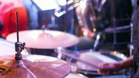 Roca del batería del concierto metrajes