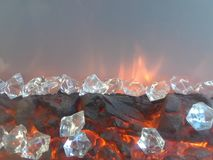 Roca del calor Foto de archivo