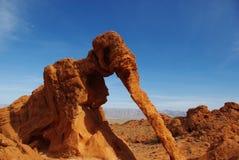 Roca del elefante, valle del fuego, Nevada Foto de archivo
