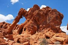 Roca del elefante, valle del parque de estado del fuego Imagen de archivo