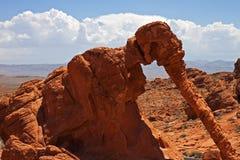 Roca del elefante, valle del parque de estado del fuego Fotografía de archivo libre de regalías