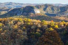 Roca del espejo en el bosque del Estado de Pisgah Imagen de archivo libre de regalías