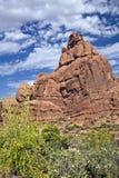 Roca del jamón, parque nacional de los arcos foto de archivo