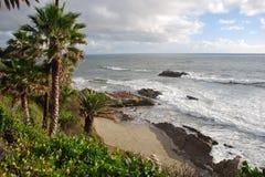 Roca del Laguna Beach del parque de Heisler, CA del pájaro Imagenes de archivo