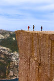 Roca del púlpito de los predicadores en el fiordo Lysefjord - Noruega Imagen de archivo