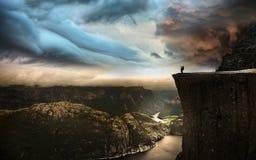 Roca del púlpito, Noruega Imagen de archivo libre de regalías