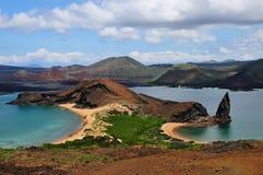 Roca del pináculo de la isla de Bartolome fotografía de archivo libre de regalías