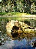 Roca del río Fotografía de archivo libre de regalías