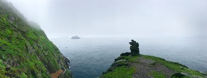 Roca del skellig de Skellig Michael, Irlanda Foto de archivo libre de regalías