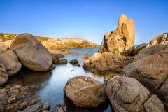 Roca en Cala Cipolla Fotografía de archivo