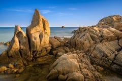 Roca en Cala Cipolla Foto de archivo libre de regalías