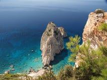 Roca en el mar 8 Fotos de archivo libres de regalías