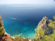 Roca en el mar 4 Imágenes de archivo libres de regalías