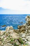 Roca en el mar Imagen de archivo libre de regalías