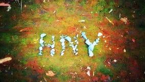 Roca en el papel pintado de la Feliz Año Nuevo de tierra y Fotos de archivo