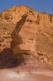 Roca en el parque de Timna, Israel. Fotografía de archivo