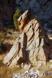 Roca en el sol de la tarde Fotografía de archivo libre de regalías