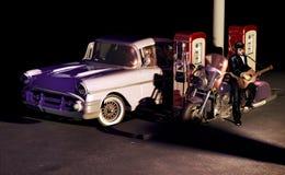 Roca en la gasolinera stock de ilustración