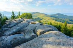 Roca en montañas Foto de archivo libre de regalías