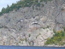 Roca en Pembroke Canadá, Norteamérica fotografía de archivo libre de regalías