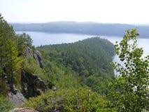 Roca en Pembroke Canadá, Norteamérica foto de archivo