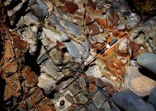 Roca entrecruzada Fotografía de archivo