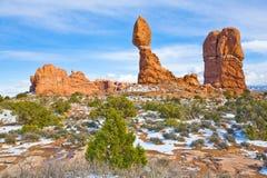 Roca equilibrada, arcos, Utah Fotos de archivo libres de regalías