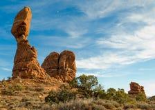 Roca equilibrada, parque nacional de los arcos Fotos de archivo