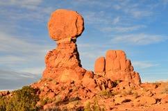 Roca equilibrada, parque nacional de los arcos Fotografía de archivo libre de regalías