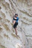 Roca-escalador Imagen de archivo libre de regalías