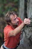 Roca-escalador. Fotografía de archivo