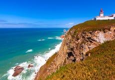 roca för caboda portugal Royaltyfri Fotografi