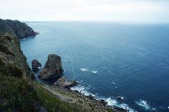 roca för caboda portugal Fotografering för Bildbyråer