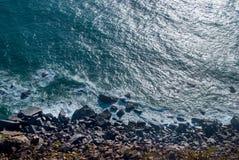 roca för caboda portugal klippor över Atlantic Ocean, den mest västliga punkten av det europeiska fastlandet Royaltyfri Fotografi