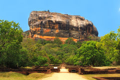 Roca famosa de Sigiriya. Sri Lanka Imagen de archivo
