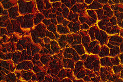 Roca fundida, lava Imagen de archivo libre de regalías