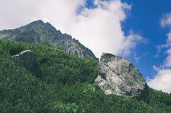 Roca gigante en alto Tatras fotografía de archivo libre de regalías