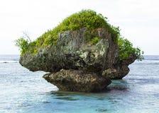 Roca grande en el océano Fotografía de archivo