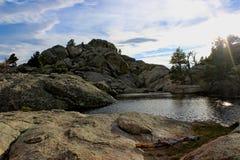 Roca gris Foto de archivo