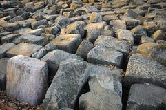 Roca gris grande Imagen de archivo libre de regalías