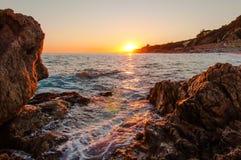 Roca Grossa plaży zmierzch obrazy royalty free