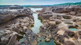 roca hermosa no vista de 3000 bok del Mekong Fotografía de archivo libre de regalías