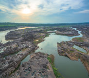 roca hermosa no vista de 3000 bok del Mekong Imagen de archivo libre de regalías