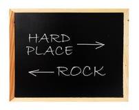 Roca, lugar duro Imagen de archivo