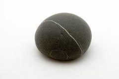 Roca negra rayada Imagen de archivo libre de regalías