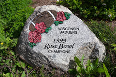 Roca pintada en el campo Randall Imagen de archivo libre de regalías