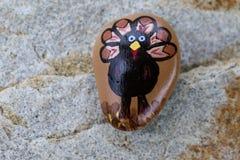 Roca pintada pavo de la acción de gracias Imagen de archivo libre de regalías