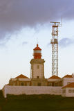 Roca przylądka latarnia morska najwięcej Europa punktu w Portugalia, Na zachód (Ca Zdjęcia Royalty Free
