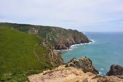 Roca przylądek & x28; Cabo da Roca& x29; w Sintra Portugalia Obrazy Stock